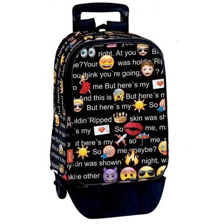 sac-a-dos-a-roulettes-emoji-talk-42-cm-trolley-haut-de-gamme-cartable