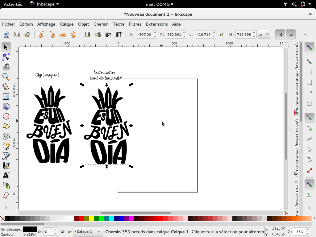 tuto vectorisation inkscape
